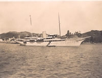 The Nahlin anchored in Russell 1932
